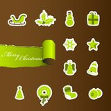 Colorful Christmas icons. Stock Image