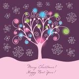 Colorful christmas illustration Royalty Free Stock Photos
