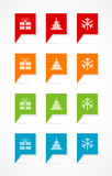 Colorful Christmas labels Stock Photos