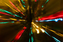 Colorful Christmas light abstraction Stock Photos