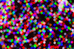 Colorful Christmas Light Bokeh Royalty Free Stock Photo