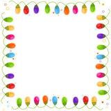 Colorful Christmas light bulb happy new year greeting card. Colorful Christmas light bulb frame happy new year greeting card vector Stock Photography