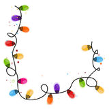 Colorful Christmas light bulb new year greeting card vector Royalty Free Stock Photo