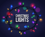 Colorful christmas light bulbs for celebratory Royalty Free Stock Photos