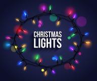 Colorful christmas light bulbs for celebratory Royalty Free Stock Photos