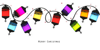Colorful Christmas light bulbs vector background Royalty Free Stock Images