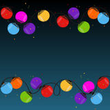 Colorful Christmas light bulbs vector Stock Image