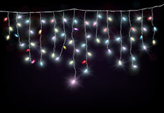 Colorful Christmas light Royalty Free Stock Photo