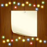 Colorful Christmas light and paper Royalty Free Stock Photo