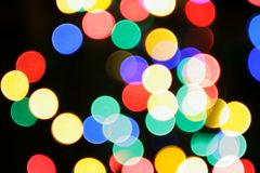 Colorful christmas lights royalty free stock images