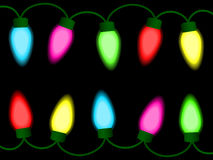 Colorful christmas lights. Colorful christmas/party lights - chain of lights royalty free illustration
