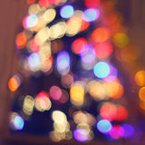 Colorful christmas lights abstract Stock Photography