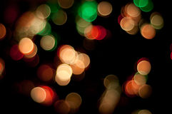 Colorful Christmas lights background Royalty Free Stock Photos