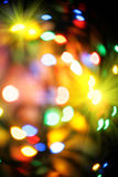 Colorful christmas lights background Stock Image