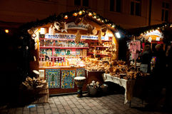 Colorful christmas market in Potsdam Stock Photo