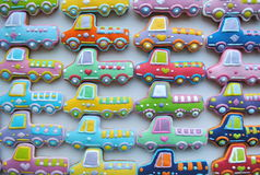 Colorful Christmas Mix Of Honey Cookies , car shaped Royalty Free Stock Photos