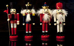 Colorful Christmas nutcrackers Stock Image
