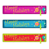 Colorful Christmas Ornament Banners Stock Photography