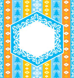 Colorful christmas ornamental background royalty free illustration