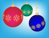 Colorful Christmas Ornaments Royalty Free Stock Image