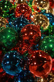Colorful Christmas ornaments. A background of colorful Christmas ornaments Stock Photos