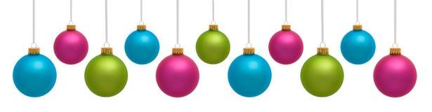 Colorful Christmas Ornaments stock image
