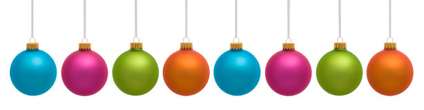 Colorful Christmas Ornaments Royalty Free Stock Images