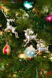 Colorful Christmas Ornaments Background Royalty Free Stock Images