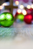 Colorful Christmas Ornaments and Christian Cross Stock Photography
