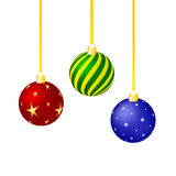 Colorful christmas ornaments set Royalty Free Stock Photography