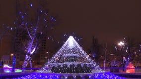 Colorful Christmas ornaments. On the Christmas tree holidaynn stock video