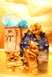 Colorful Christmas Packages Stock Photography