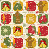 Colorful Christmas pattern Stock Image