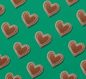 Christmas pattern of gingerbread cookies vector illustration