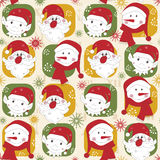 Colorful Christmas pattern seamless Royalty Free Stock Photography