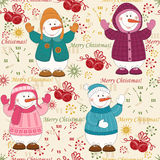 Colorful Christmas pattern seamless Royalty Free Stock Images