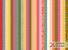 Colorful Christmas patterns. Colorful illustration with christmas patterns. Each pattern is seamless and can be used separatelycan be added separately Stock Photo