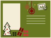 Colorful christmas postcard Royalty Free Stock Photography