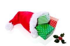 Colorful christmas present Stock Photos