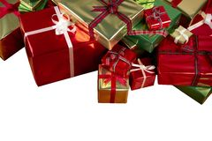 Colorful Christmas presents Stock Photography