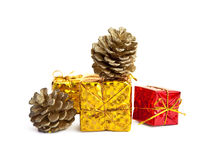 Colorful Christmas Presents. Small, colorful Christmas or holiday gift packages royalty free stock image