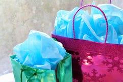Colorful Christmas presents stock photos