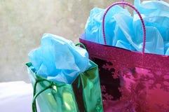 Colorful Christmas presents stock image