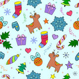 Colorful christmas seamless pattern Royalty Free Stock Image