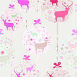 Colorful Christmas seamless pattern. EPS 8 Stock Image