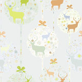 Colorful Christmas seamless pattern. EPS 8 Stock Photography
