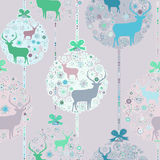 Colorful Christmas seamless pattern. EPS 8 Stock Images