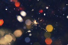 Colorful Christmas Sparkler Royalty Free Stock Photography