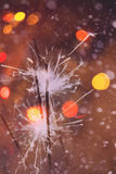Colorful Christmas Sparkler Royalty Free Stock Images