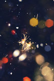 Colorful Christmas Sparkler Royalty Free Stock Image